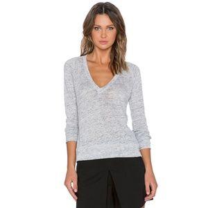 Theory Grey Zephyr Melange Dalphon Sweater